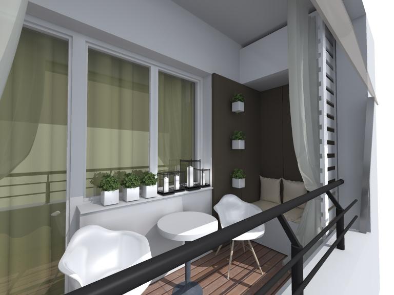 Ra balcony design archea for Long narrow balcony decorating